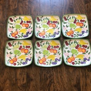 Six Beautiful fruit dining plates